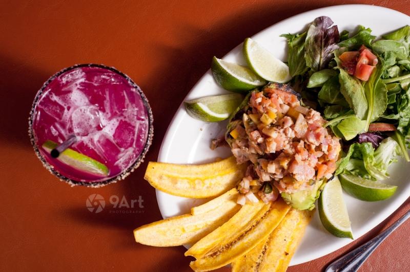 CVB food photography post: table mesa food and drink shot from joplin restaurant