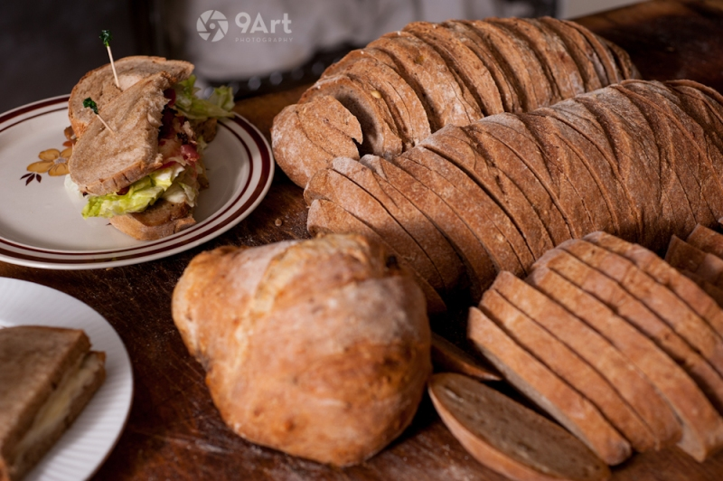 CVB food photography post: fresh homeade bread and sandwiches from joplin restaurant, 'mohaska farmhouse'