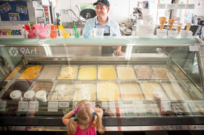 CVB food photography post: andersons ice cream- reddings mill ice cream shop