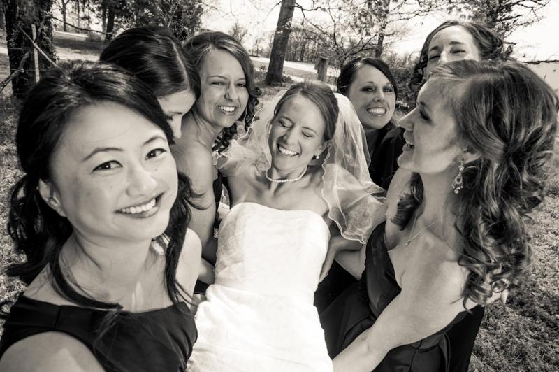 9art photography, wedding photographer, joplin missouri :: bridal party fun
