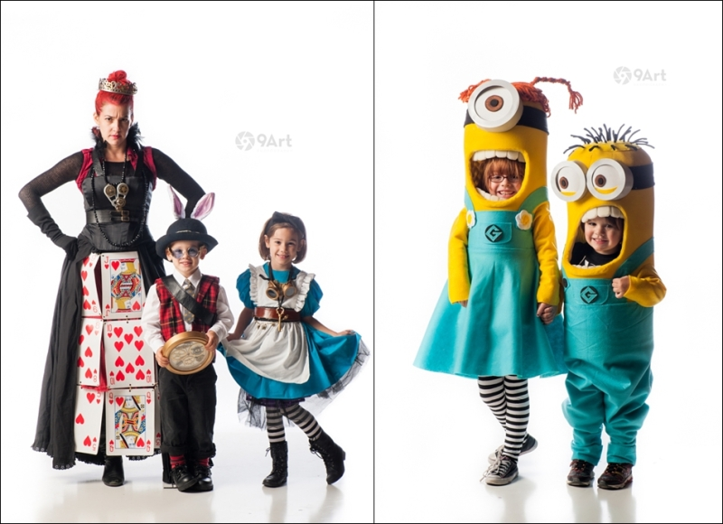costumed minions & steampunk alice in wonderland- from joplin mo's third thursday 9art Photo Booth