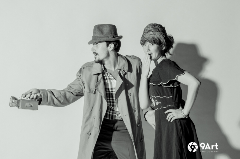 a favorite from our black and white film noir theme- from joplin mo's third thursday 9art Photo Booth