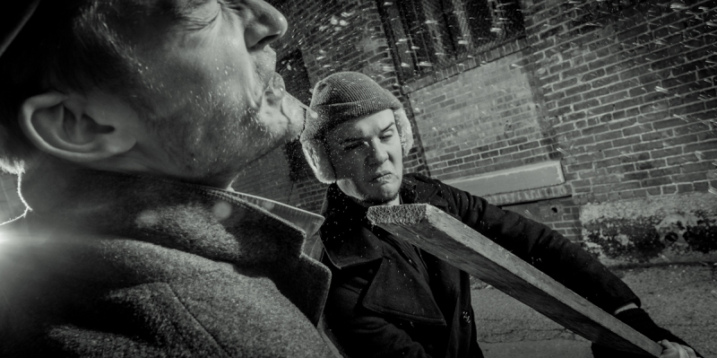 from the noir i-book, 'cold brewed': Jett Cropper gets a 2 x 4 to the face