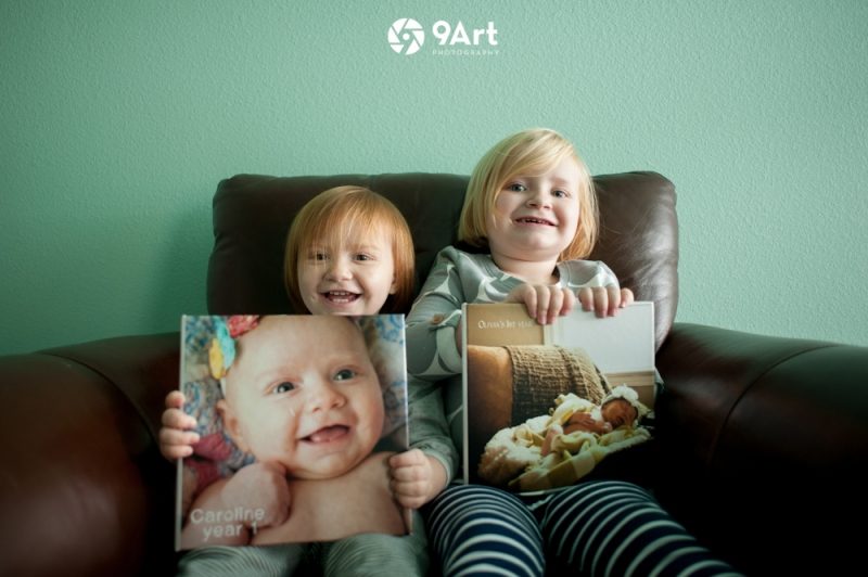 the Eidson girls, graduates of 9art photograph's 'baby's first year' plan in Joplin, MO