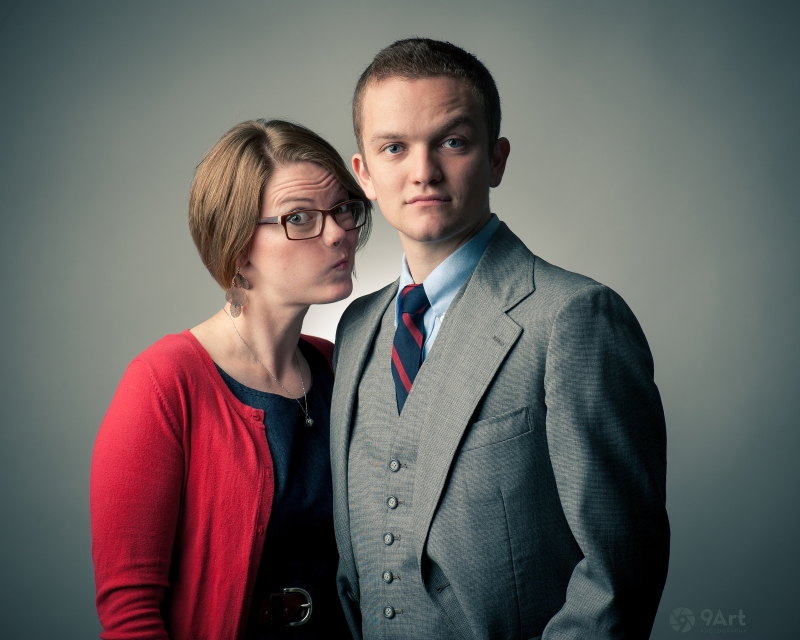 studio couple portrait session in joplin mo, Lance & Tara