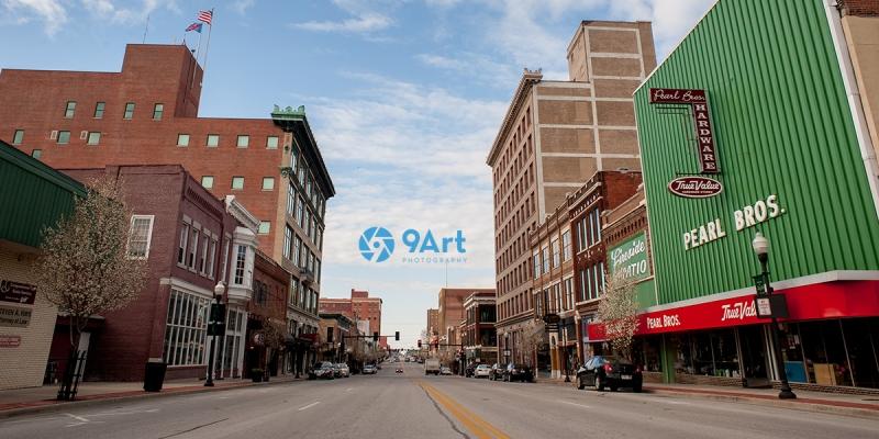 downtown joplin main street view from DJA series by 9art photography2