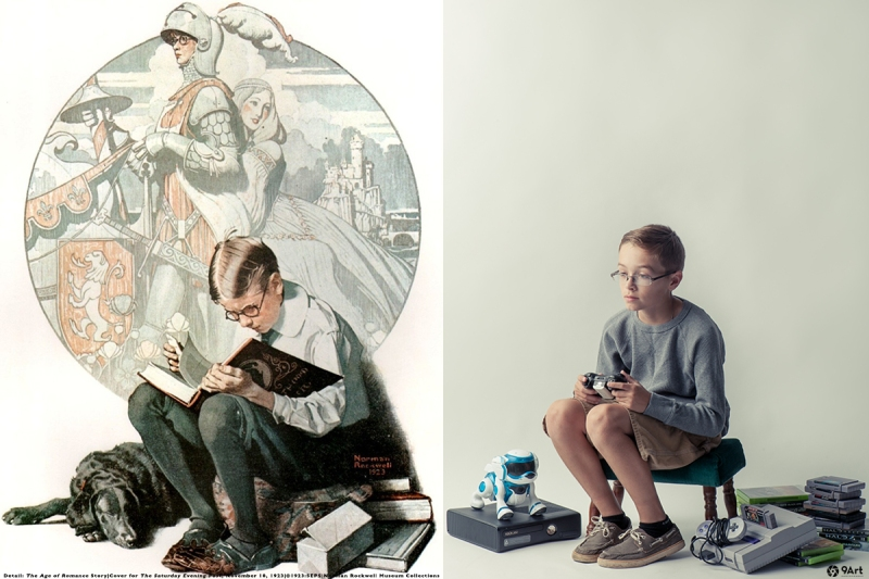 norman rockwell 9art photography technology series, image #1- age of romance