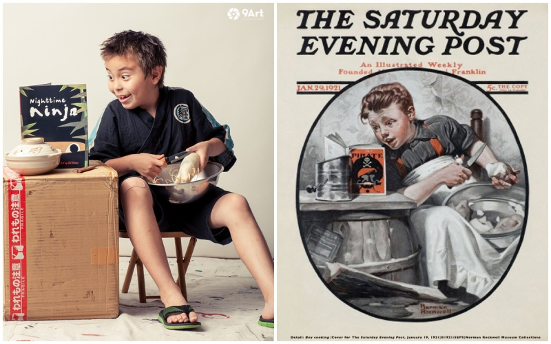 norman rockwell post cover contest collaboration with spiva arts in joplin mo by 9art photography_0001b